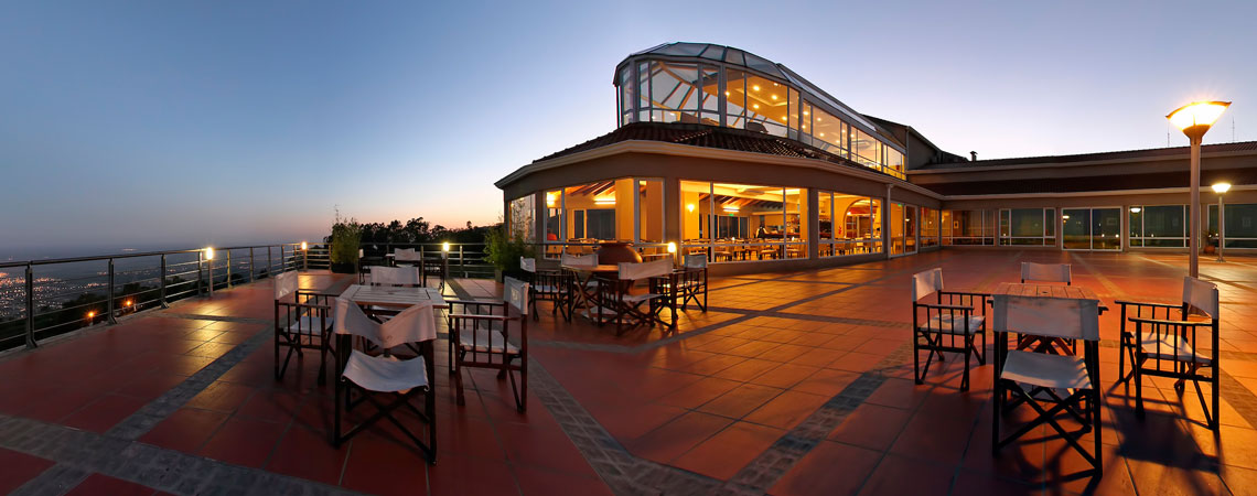 Vista de las terraza del hotel